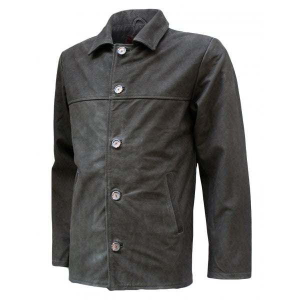 Mens Nubuck Vintage Look Leather Blazer