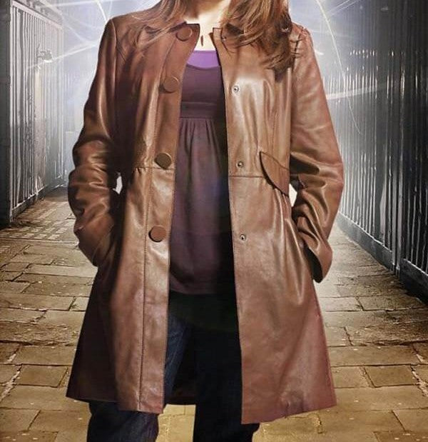 NOBLE DOCTOR WHO DONNA LEATHER COAT