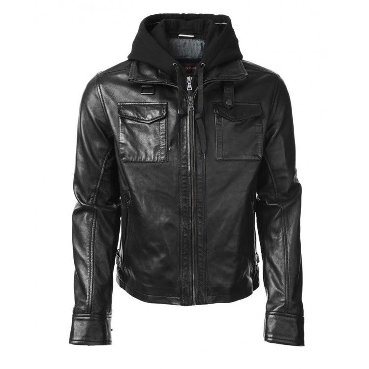 Arrow Oliver Queen Leather Jacket with Hoodie