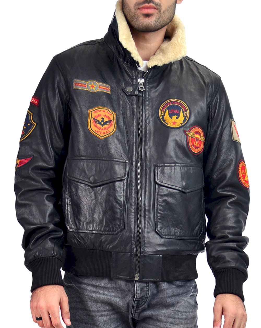 Patched Pilot B3  Bomber Jacket
