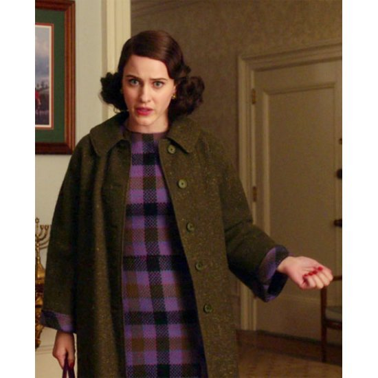 Rachel Brosnahan The Marvelous Mrs. Maisel Black Coat