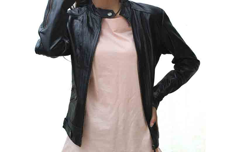 Rave Women Black Real Leather Jacket