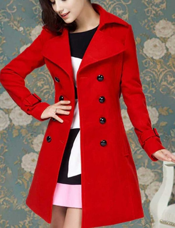 Red Polar Vivian Trench Coat