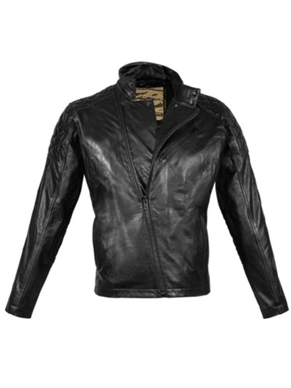 SOLID 5 METAL GEAR LEATHER JACKET