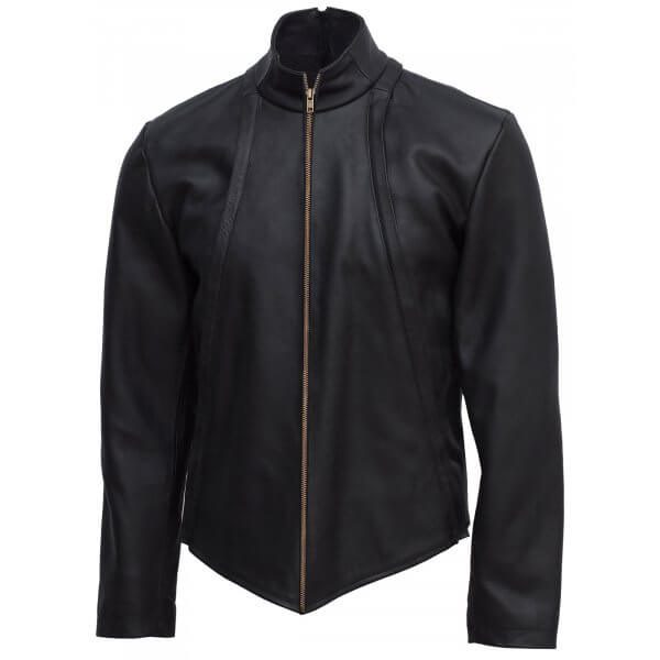 Stylish Black Leather Jacket For Men