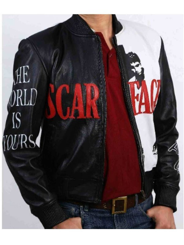 TONY MONTANA  SCARFACE BOMBER LEATHER JACKET
