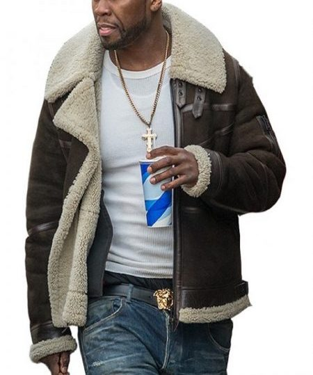 Power TV Series Suede Shearling Jacket