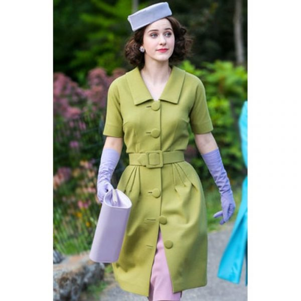 Rachel Brosnahan The Marvelous Mrs Maisel Green Coat