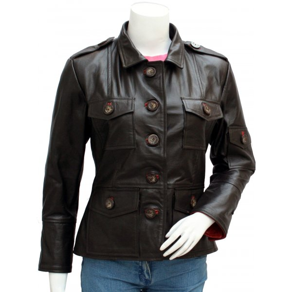 Varsity Women's Biker Leather Jacket