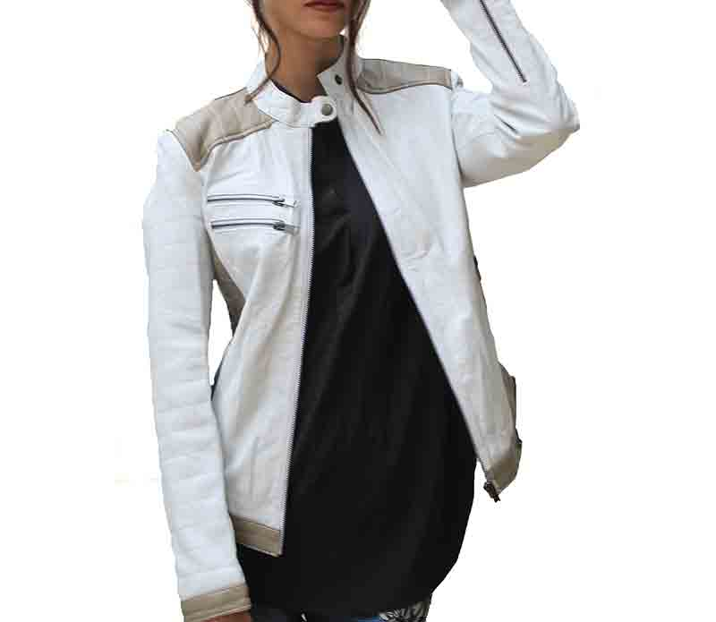 Women Lana Stylish Silver Leather Jacket