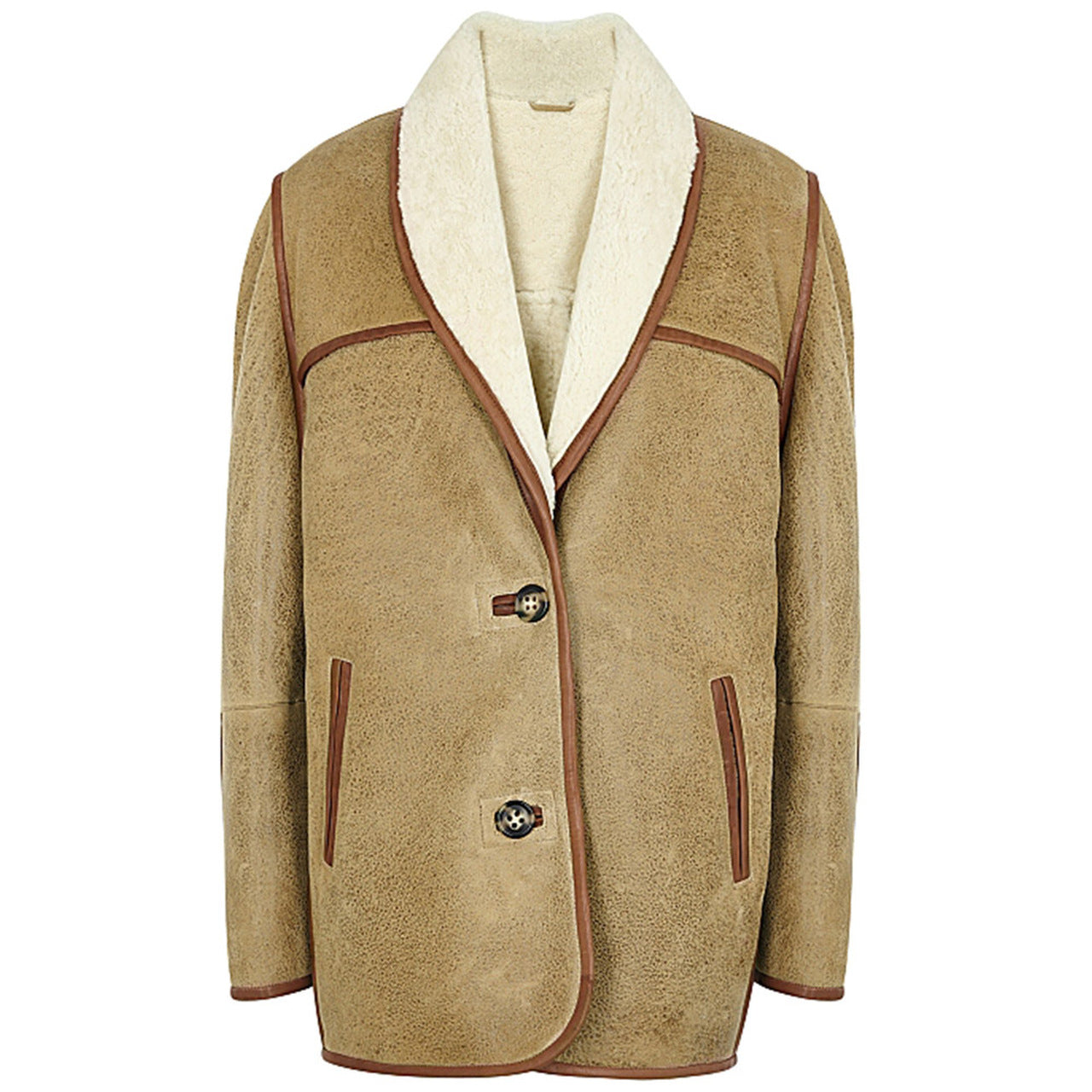 Women's Brown Shearling Coat
