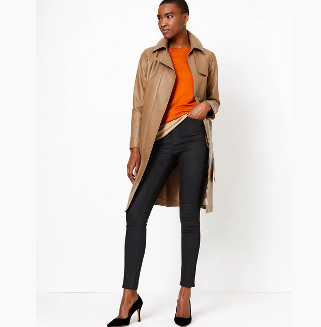 Women's Brown Trench Coat