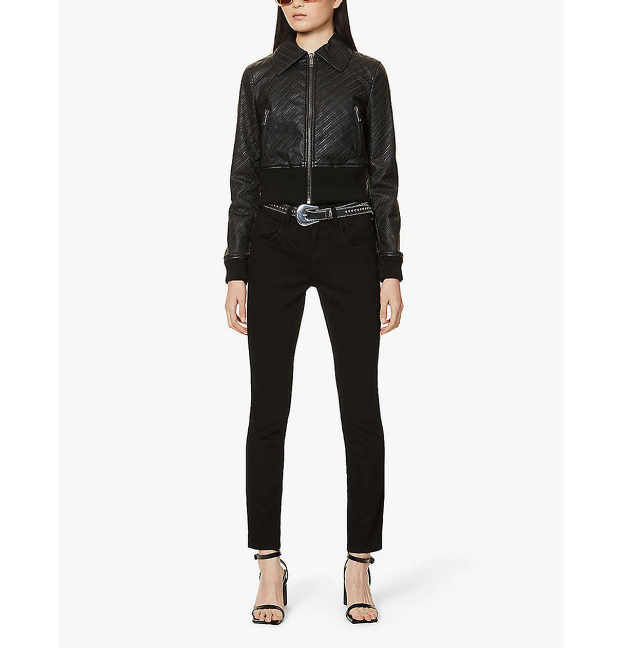 Women's Embossed Bomber Jacket