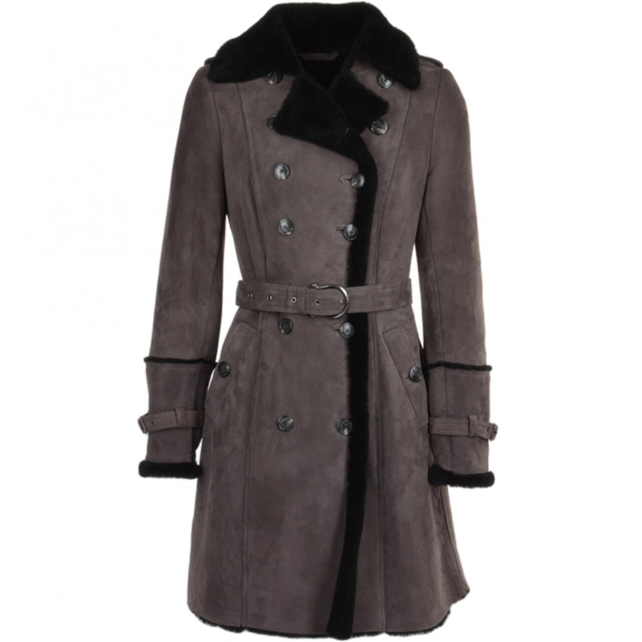 Women's Grey Trench Coat