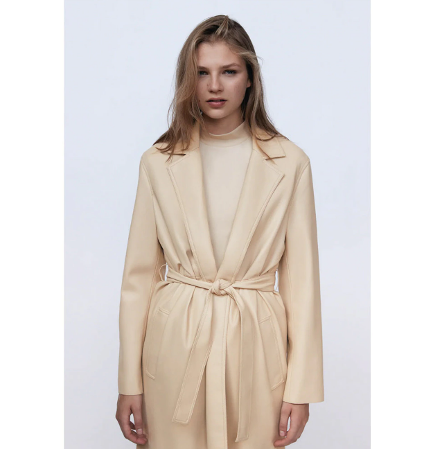 Women's Nude Trench Coat