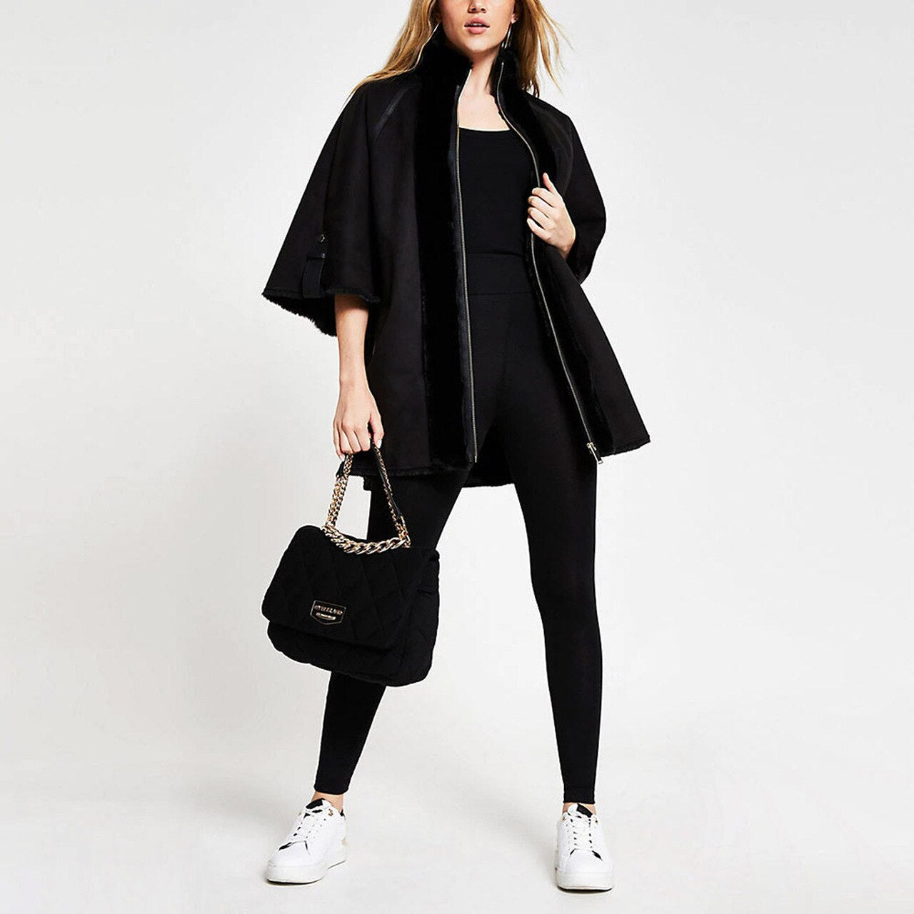 Women's Shearling Faux fur Cape