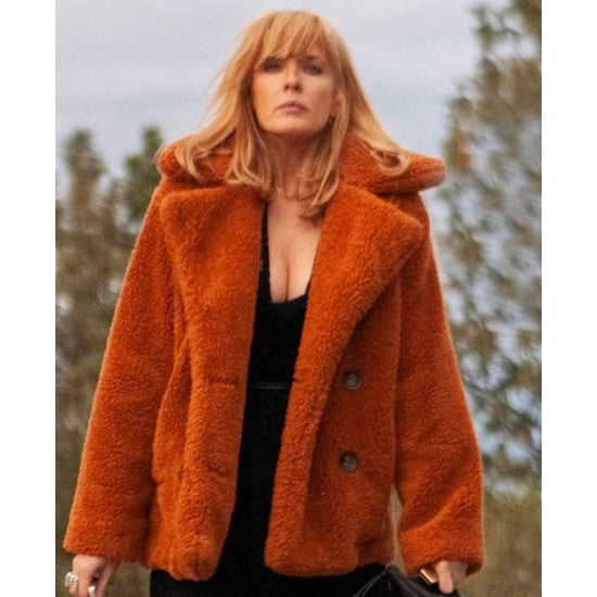 Yellowstone Season 02 Kelly Reilly Fur Jacket
