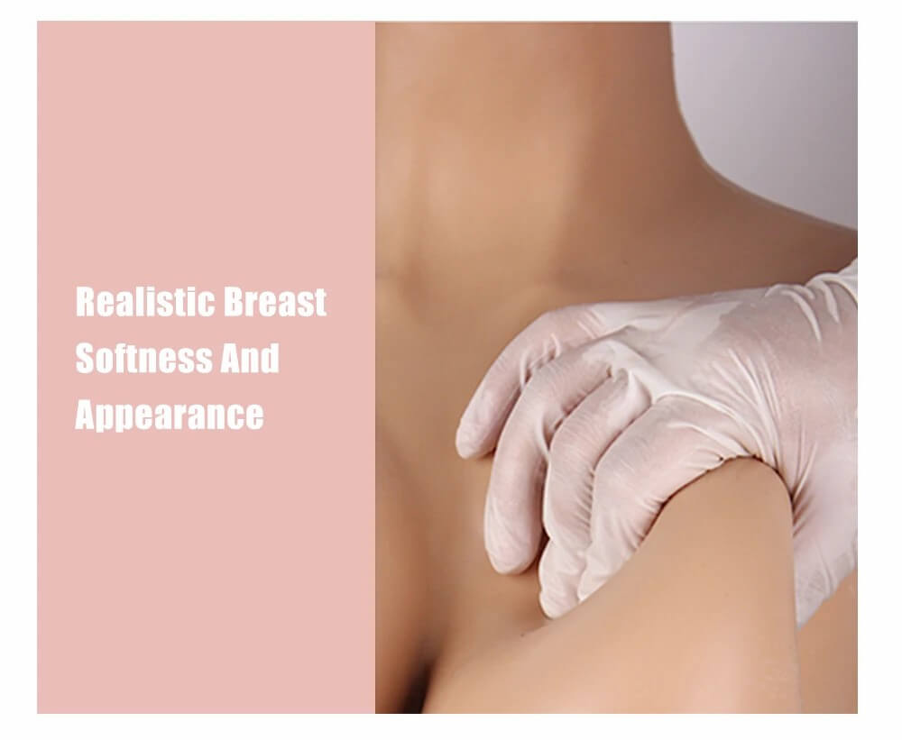 silicone realistic breast softness and appearance