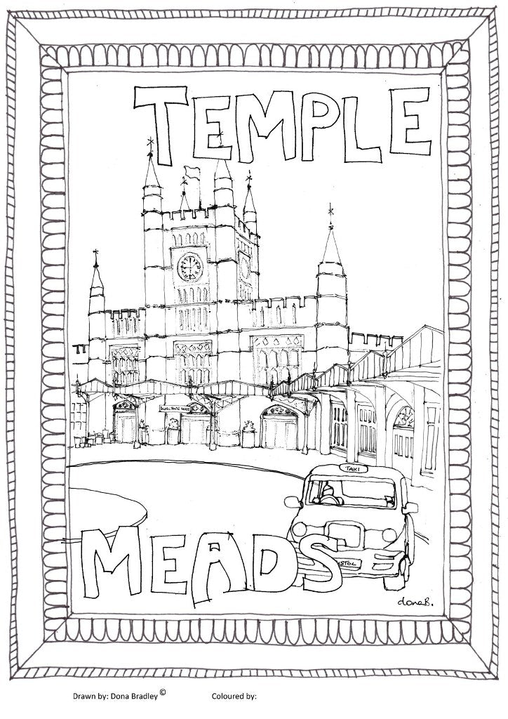 Bristol Temple Meads colouring-in image