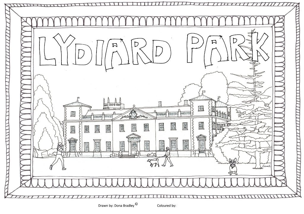 Swindon Lydiard House colouring-in image