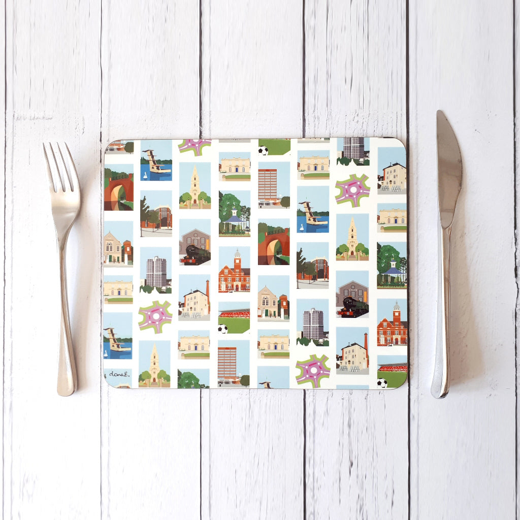 Swindon Placemat - Highlights Stripe