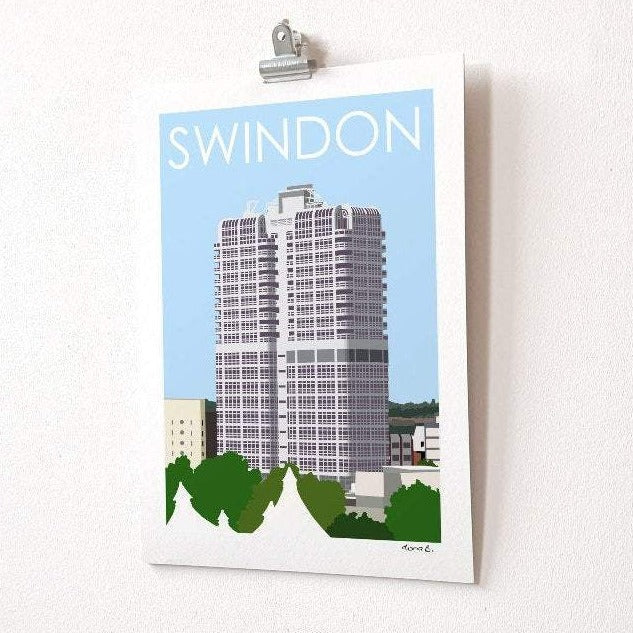 SWINDON Murray John Tower Print