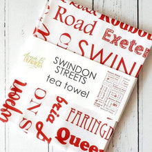 Load image into Gallery viewer, Swindon Cotton Tea Towel - Swindon Streets