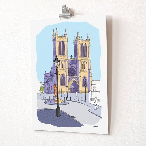 Bristol Cathedral illustration print