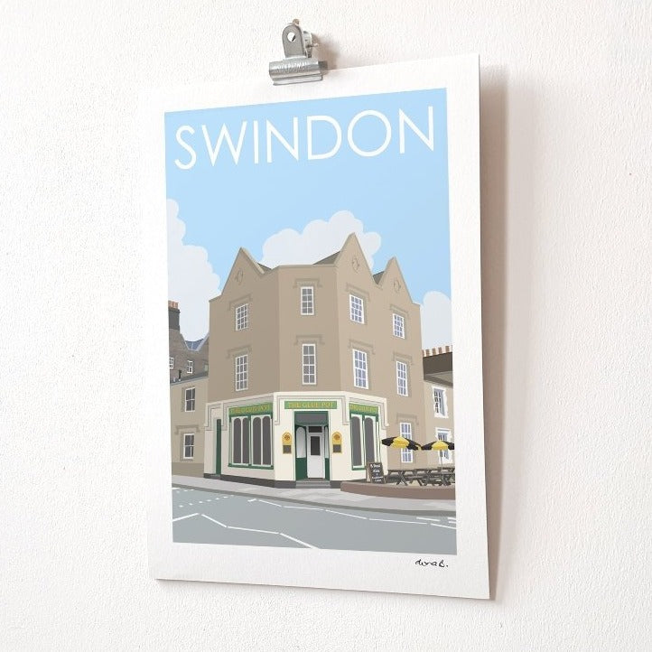 SWINDON Glue Pot Print