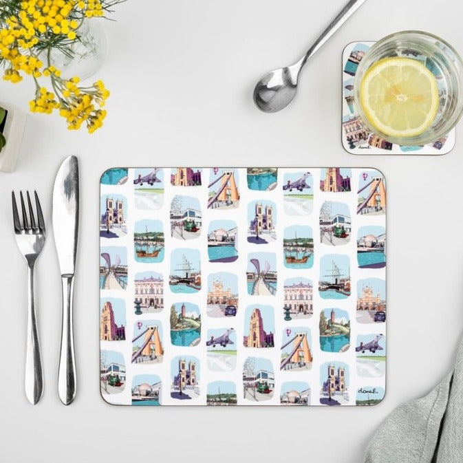 Bristol Placemat - Sketches Stripe