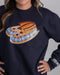 "Native American Sweatshirt | ""Drums Are Calling"" - Navy Blue"