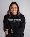 "Native American Sweatshirt | ""Support Native Arts"" - Black"