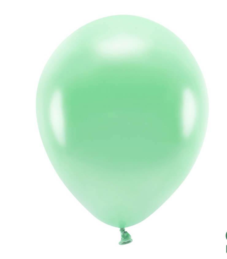 Globos ECO mint satinado - 10 uds - Mona Monina