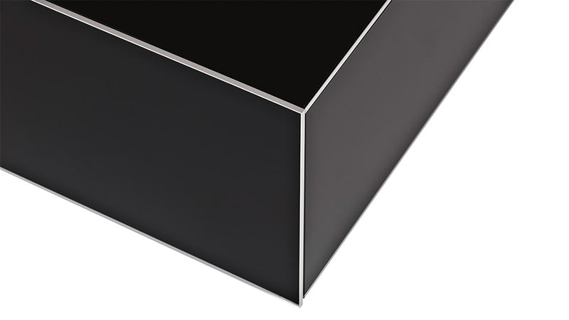 Accord Pro Built to Order Black Glass Coffee Table ES-90 D Corner View