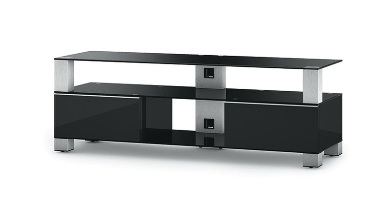 "Black TV Stand with Storage Ideal for 60"" Screens - MD9140"