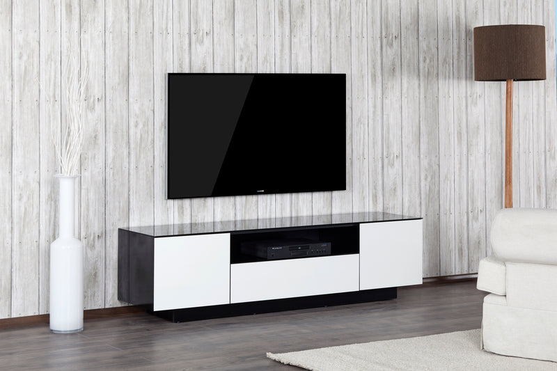 Lifestyle Image Accord Concept LB Series White 180cm Media Unit TV Cabinet Open Front Large Cabinet