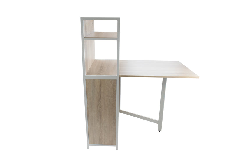 Free-Standing Folding Desk with Storage Shelves, CED-102