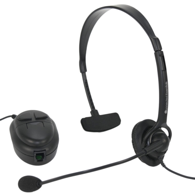 Single Ear-Piece Telephone Headset with Universal Connector - CEH-10
