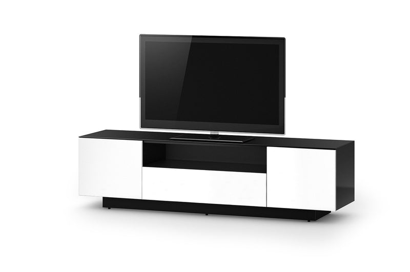 Accord Concept LB Series White 180cm Media Unit TV Cabinet Open Front Large Cabinet