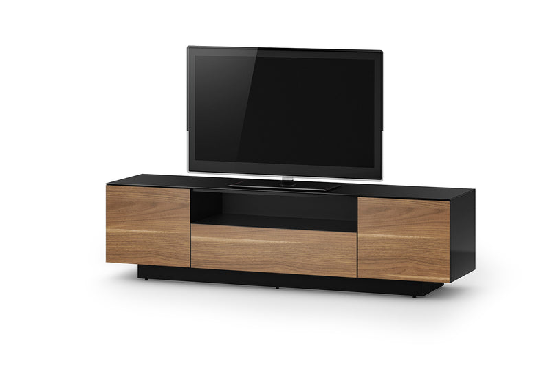 Accord Concept LB Series Black Walnut 180cm Media Unit TV Cabinet Open Front Large Cabinet