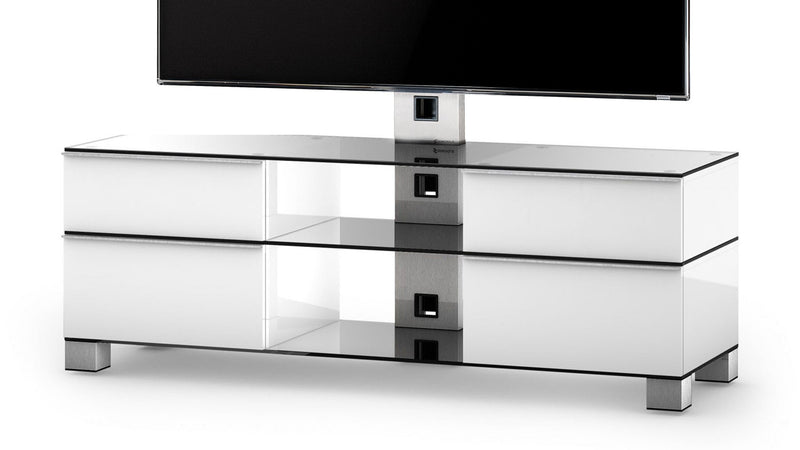 White TV Cabinet with Integrated