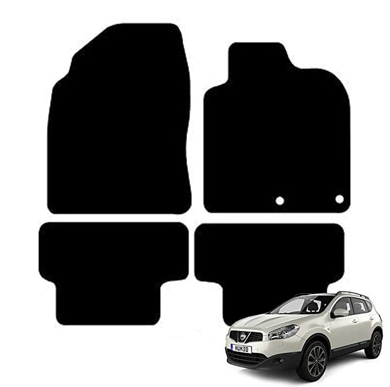 Nissan Qashqai Car Mats 2006-2013, Fully Tailored, Black