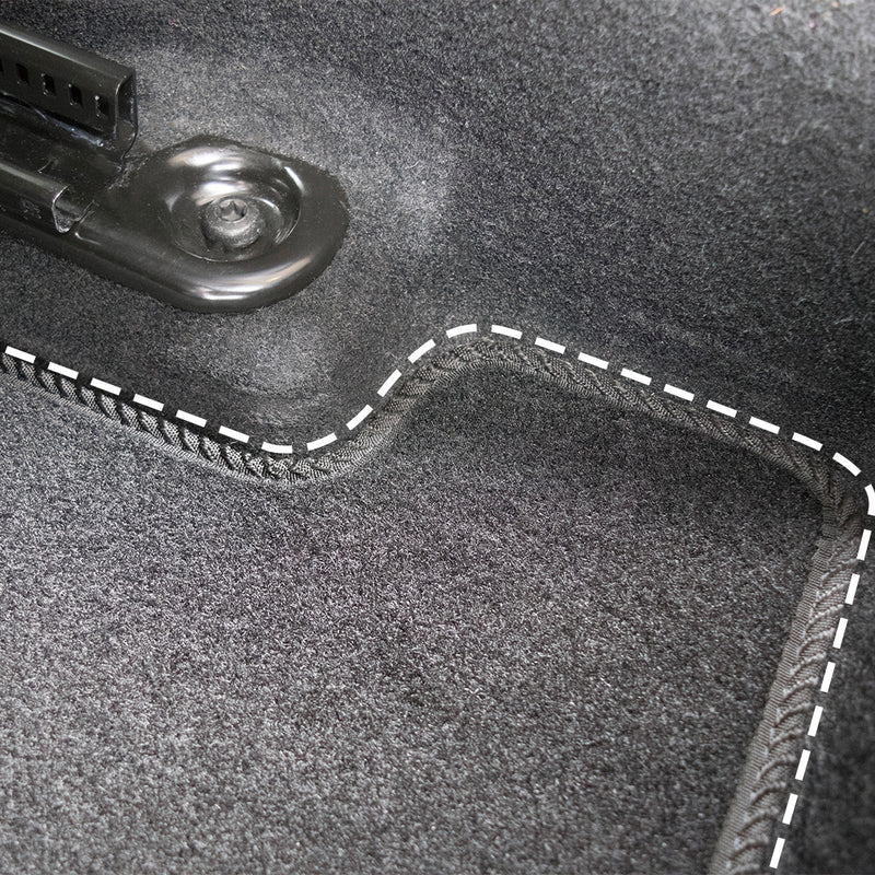 Grade B - Kia Picanto Car Mats 2011-Onwards, Fully Tailored, Black with Blue Trim