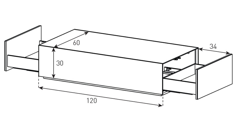 Dimensions Diagram Accord Pro Built to Order Black Glass Coffee Table ES-90