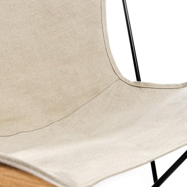 HARDOY BUTTERFLY CHAIR MIT LEINEN - Manufakturplus GmbH