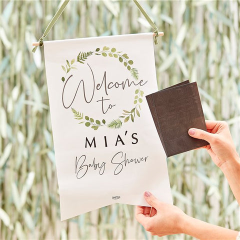 Custom Baby shower welcome sign