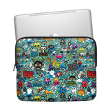 Blue Abstract Laptop Sleeve