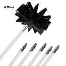 Load image into Gallery viewer, Bendable Long nylon wire Chimney Brush Flexible Dryer Pipe Inner Wall