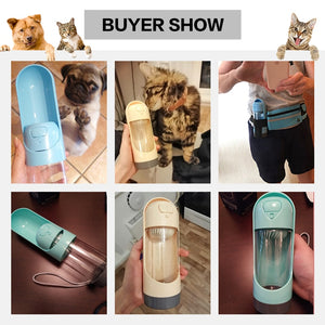 Portable Pet Dog Water Bottle Drinking Bowls For Small Large Dogs