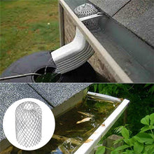 Load image into Gallery viewer, Roof Gutter Guard Filters 3 Inch Expand Aluminum Filter Strainer Stops Blockage Leaf Drains Debris Drain Net Cover